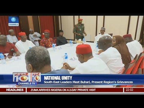 South East Leaders Meet Buhari, Presents Regions' Grievances Pt 1   News@10  