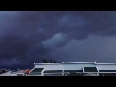 Time Lapse: Angry Storm Clouds Over Ho Chi Minh City, Vietn