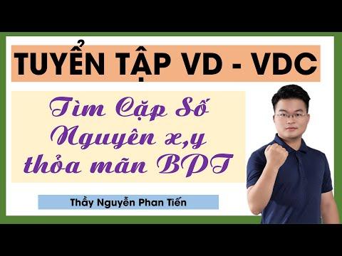 Tìm x,y nguyên thỏa mãn điều kiện BPT || Thầy Nguyễn Phan Tiến