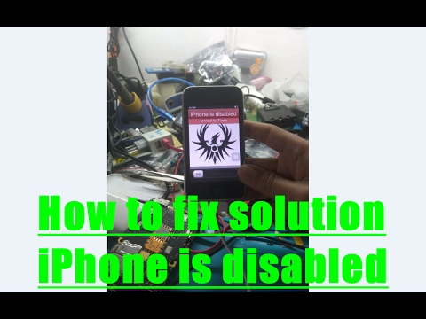 how to fix a disabled iphone how to fix solution iphone is disabled 18811