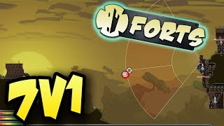 Forts 7v1Multiplayer Gameplay ► DOG PILE THE FORTS CHAMPION!