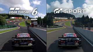 GT SPORT vs GT6 - Spa-Francorchamps - Nissan XANAVI NISMO GT-R '08
