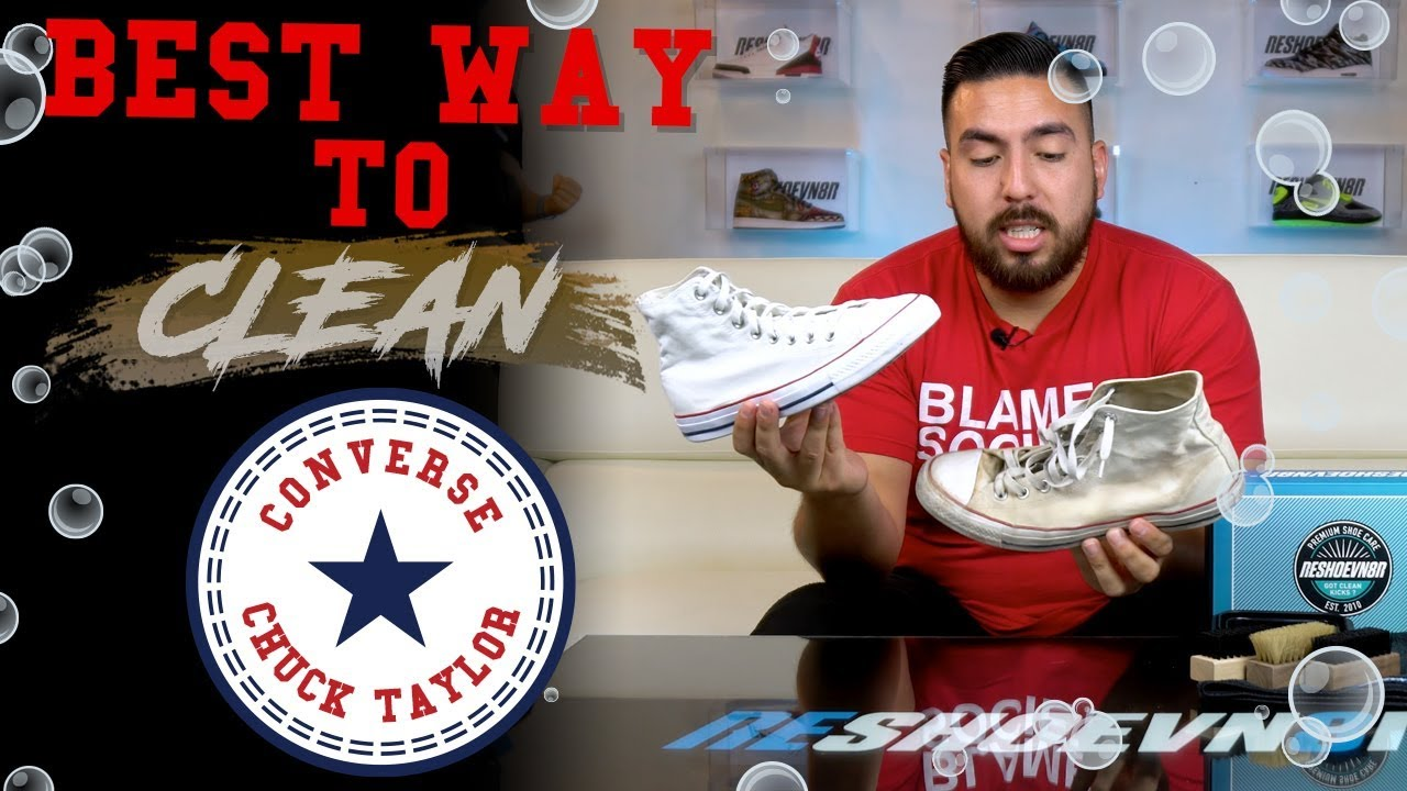 66b3cde7520 Best Way To Clean White Converse All-Star Chuck Taylor Highs ...