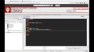 IU header - part 2 (HTML markup)
