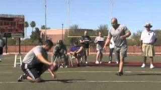 Football Kicking Coach: Juan Gamboas Kickers Workout at Coach Zauners Free Agent Combine