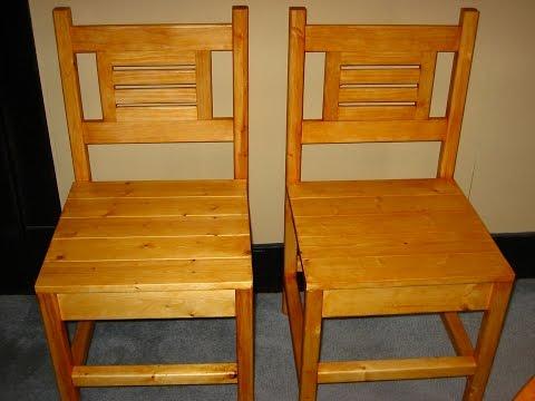 kitchen chair build