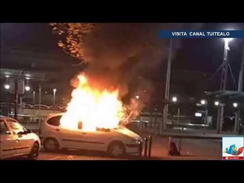 incendian-extraño-auto-de-la-matrix-atravesado-por-árbol-en-nantes-francia