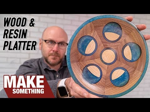 How to Make a Wood & Resin Platter | Woodworking Project