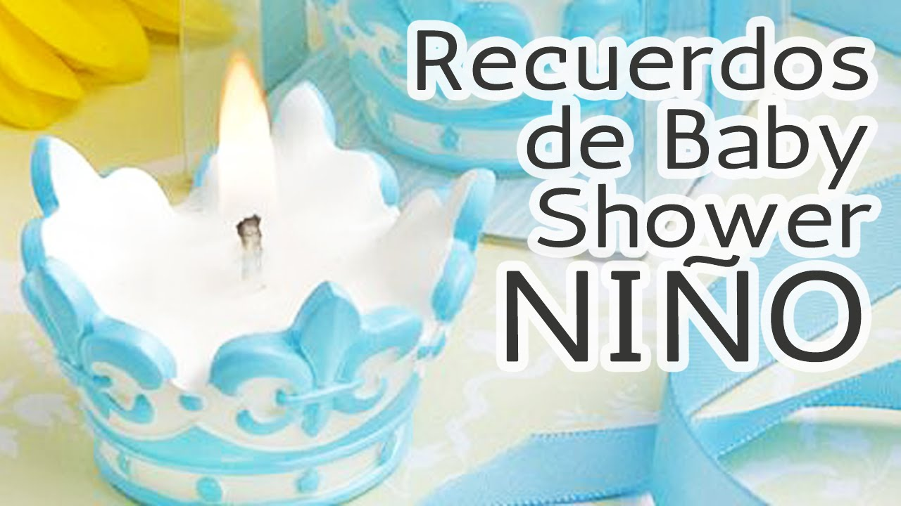 40 ideas recuerdos para baby shower ni o hd youtube - Mesa de baby shower nino ...