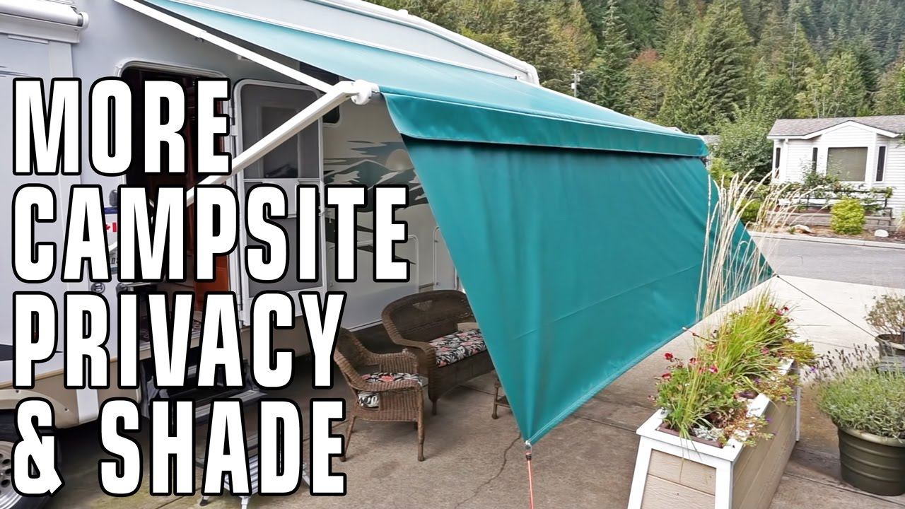 Improve Campsite Privacy Shade Panels From Tough Top Awnings