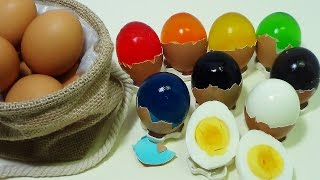 vuclip ToyCheff Make Colorful Jelly Eggs & Chocolate Eggs Using Really Eggshell 다양한 칼라 젤리 계란 쵸콜릿 계란 만들기