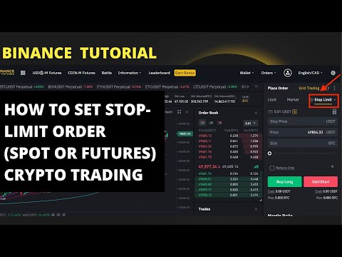 HOW TO SET STOP LIMIT ORDER ON BINANCE (EXPLAINED WITH EXAMPLES)