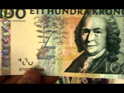 Swedish Kroner Money Currency Leftover From Vacation