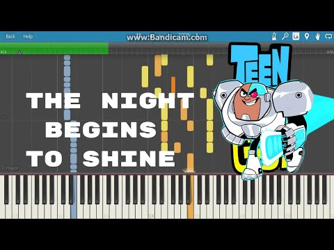 the night begins to shine-piano tutorial(teen titans)