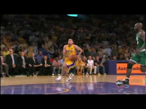 Jordan Farmar Dunks On Kevin Garnett - NBA FInals Game 6 ...