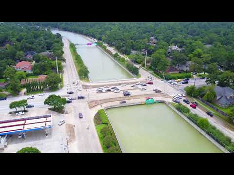 Canal at the Belt - Beltway 8 fully submerged in Houston Flooding - Hurricane Harvey
