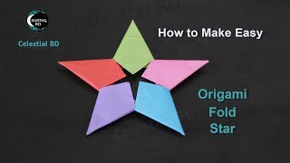 Origami star || How to make origami star || paper star || Origami fold star