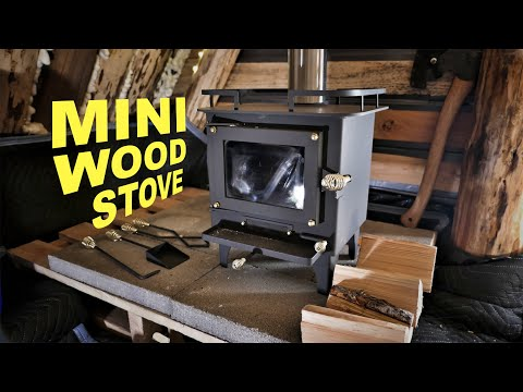 Winter Survival Shelter - The AMAZING Cubic Grizzly mini wood stove!