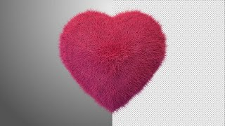 Furry Beating Heart Stock Motion Graphics