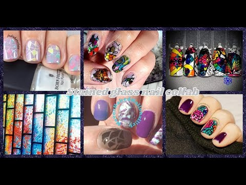 Stamping Nail Art Tutorial | Stained Glass Facebook Group Collab | Born Pretty Store, etc. ✓ thumbnail