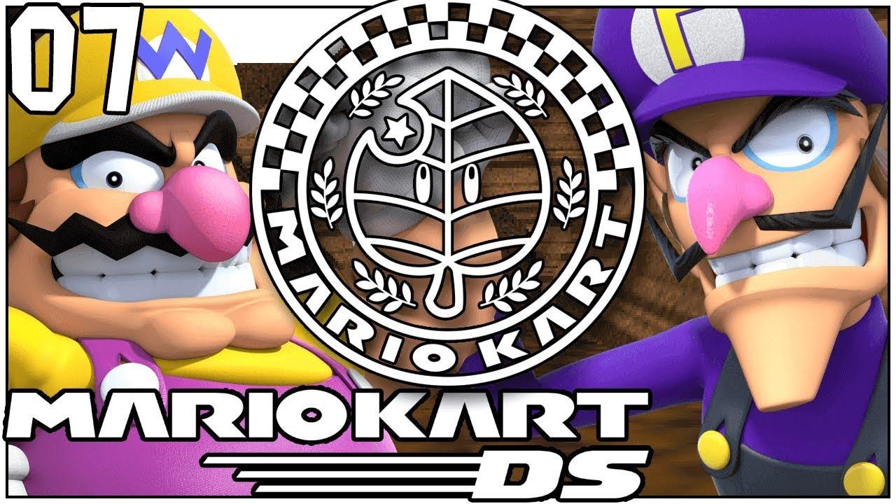 THIS AINT EVEN A KART! LEAF CUP! Mario Kart DS VS Part 7 - DarkLightBros