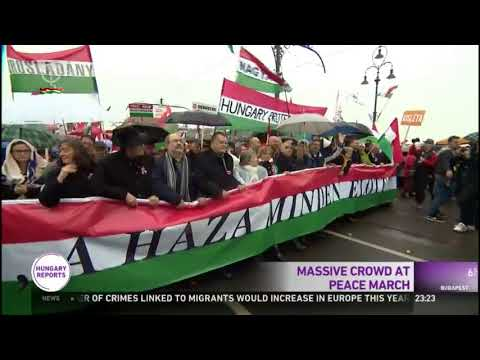 Massive Peace March Supporting Hungarian Nation