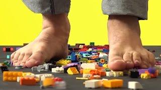 Çıplak Ayakla Lego Üzerinde Yürüme Kapışması
