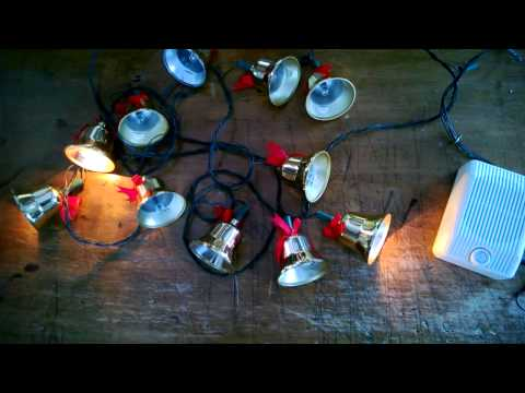 Musical Twinkling Gold Christmas Bell Lights