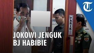 Presiden Jokowi Jenguk BJ  Habibie yang Dirawat di RSPAD