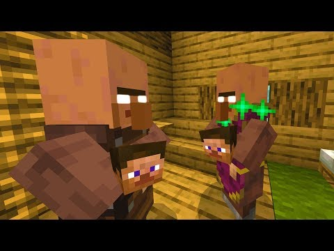 I found out what Minecraft villagers do when no one is around.. (Creepy)