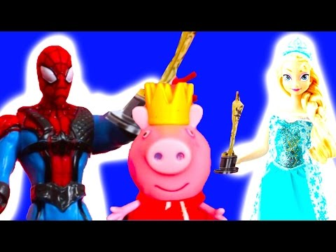 Superheroes Elsa Superman Peppa pig and Hello Kitty are awarded Toys animation Best Movie Awards