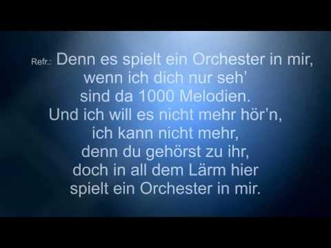 Orchester in mir, Klavier, Karaoke, Playback, gespielt von Nicole Sandt
