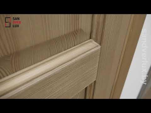 Обзор межкомнатной двери из сосны М13 брашированная, Поставский мебельный центр - Sandverlux.by