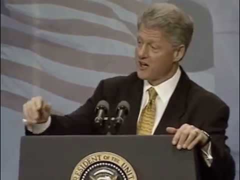 President Bill Clinton January 1998 Visit to University of Illinois at Urbana-Champaign