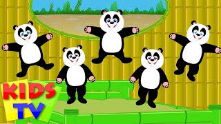 five little pandas | panda songs | panda nursery rhymes | little pandas | kids videos and songs
