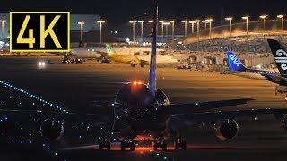 [4K] 関西国際空港の夜景 2018年1月7日