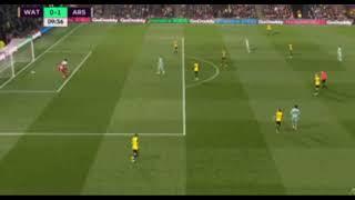 Aubameyang Goal Watford vs Arsenal