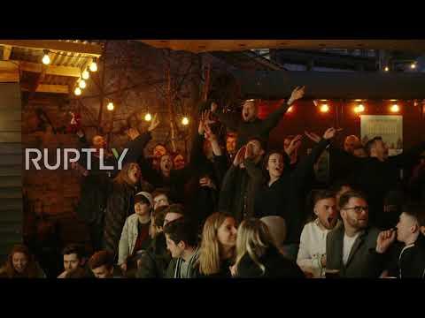 UK: English and Scottish fans celebrate thrilling Six Nations closing match