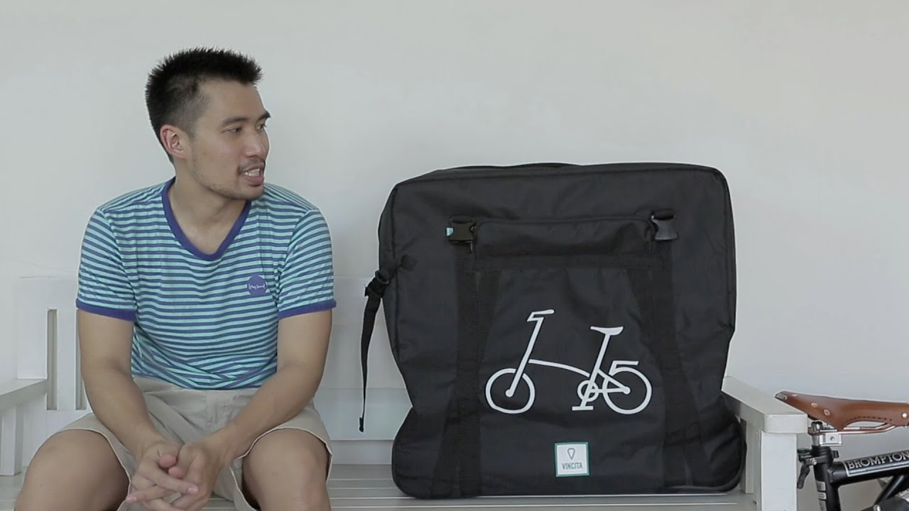 ed3fb2803 Packing Brompton bike for air-travel with B132B soft transport bag ...