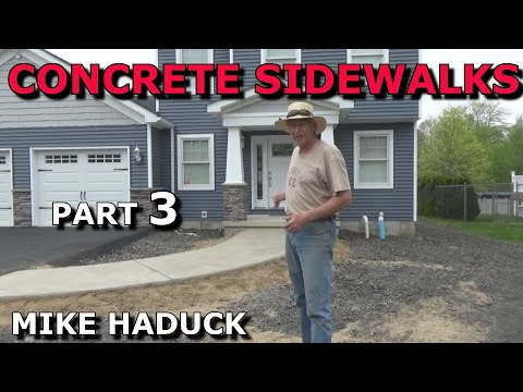 How I float finish concrete (part 3 of 7) Mike Haduck