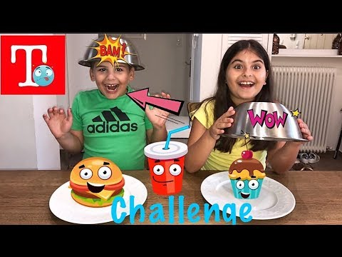 Gummy VS Real Food Challenge Τόλης VS Μαριλεννα///Famous Toli
