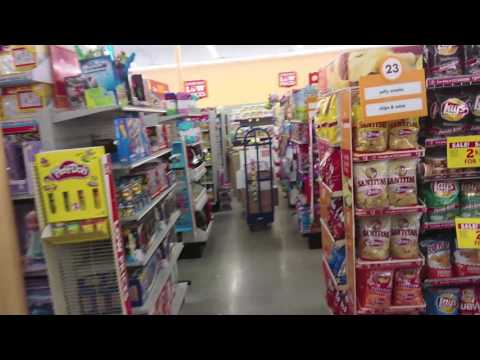 Shopping Inside A Family Dollar