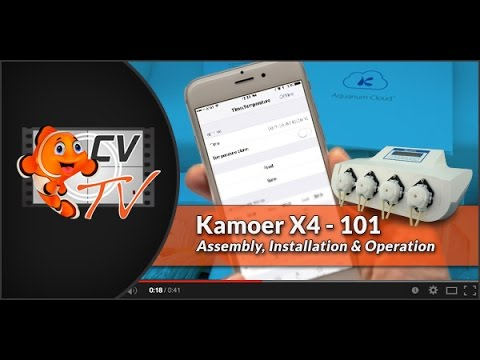 Kamoer X4 101: Assembly, Installation & Operation