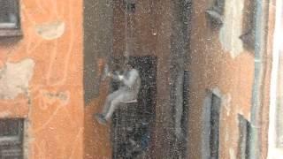 капитальный ремонт фасадов в спб, как он есть.(Санкт-Петербург. 12 июня 2014 года. Петроградский район Ул. Красного Курсанта д.8 ООО
