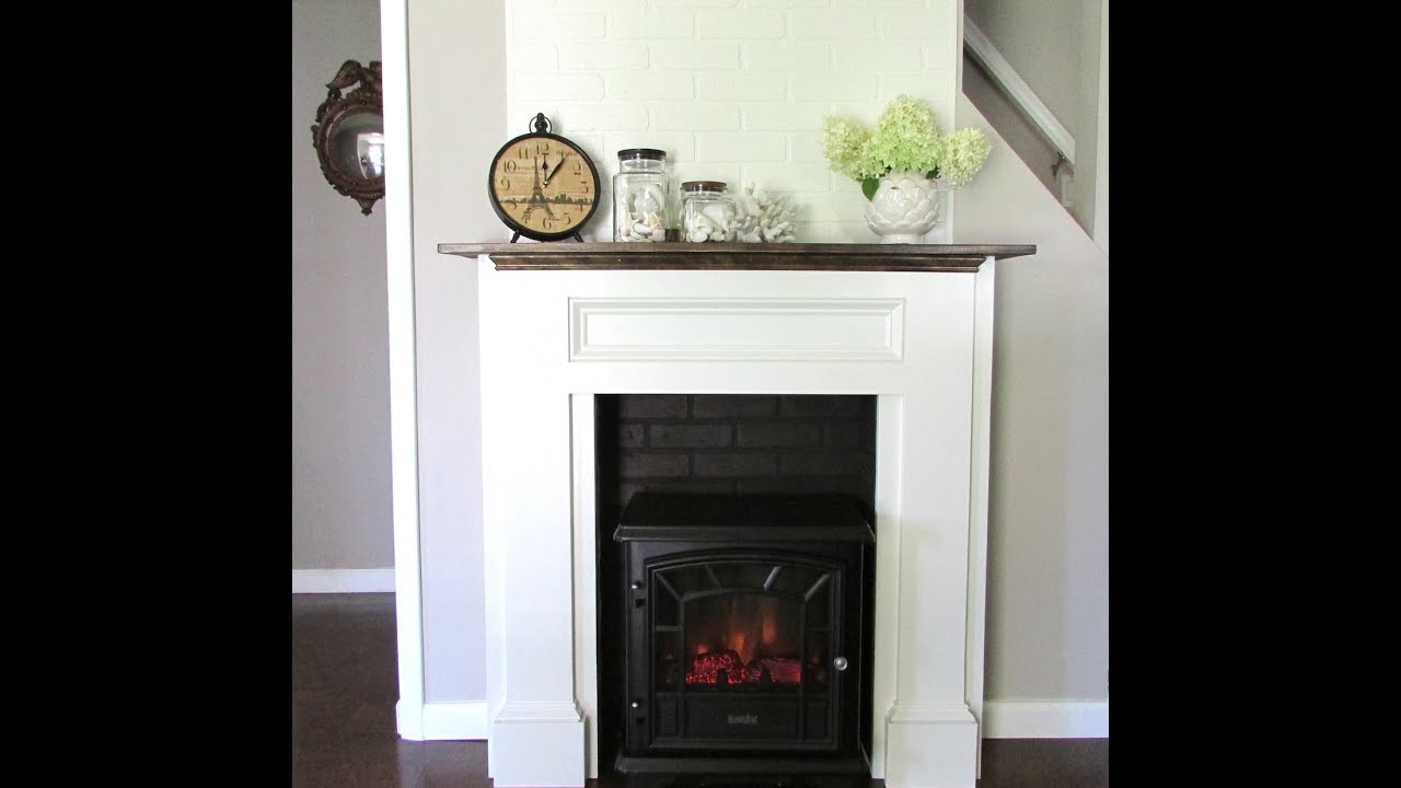 we built a fireplace mantle youtube