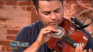 "FIDGET SPINNER Violinist Plays ""Shape of You"" on Live TV"