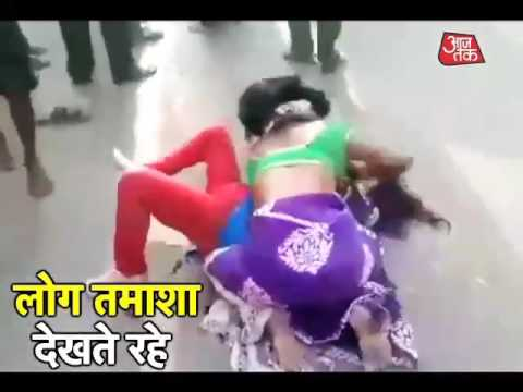 Shocking: Ugly Street Brawl Between Two Families In Allahabad