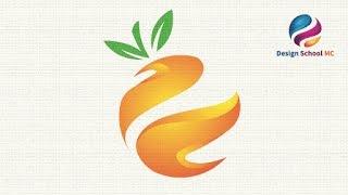 Circle Orange Logo Design Tutorial - 3D Fresh Logo in Adobe illustrator   Design School MC