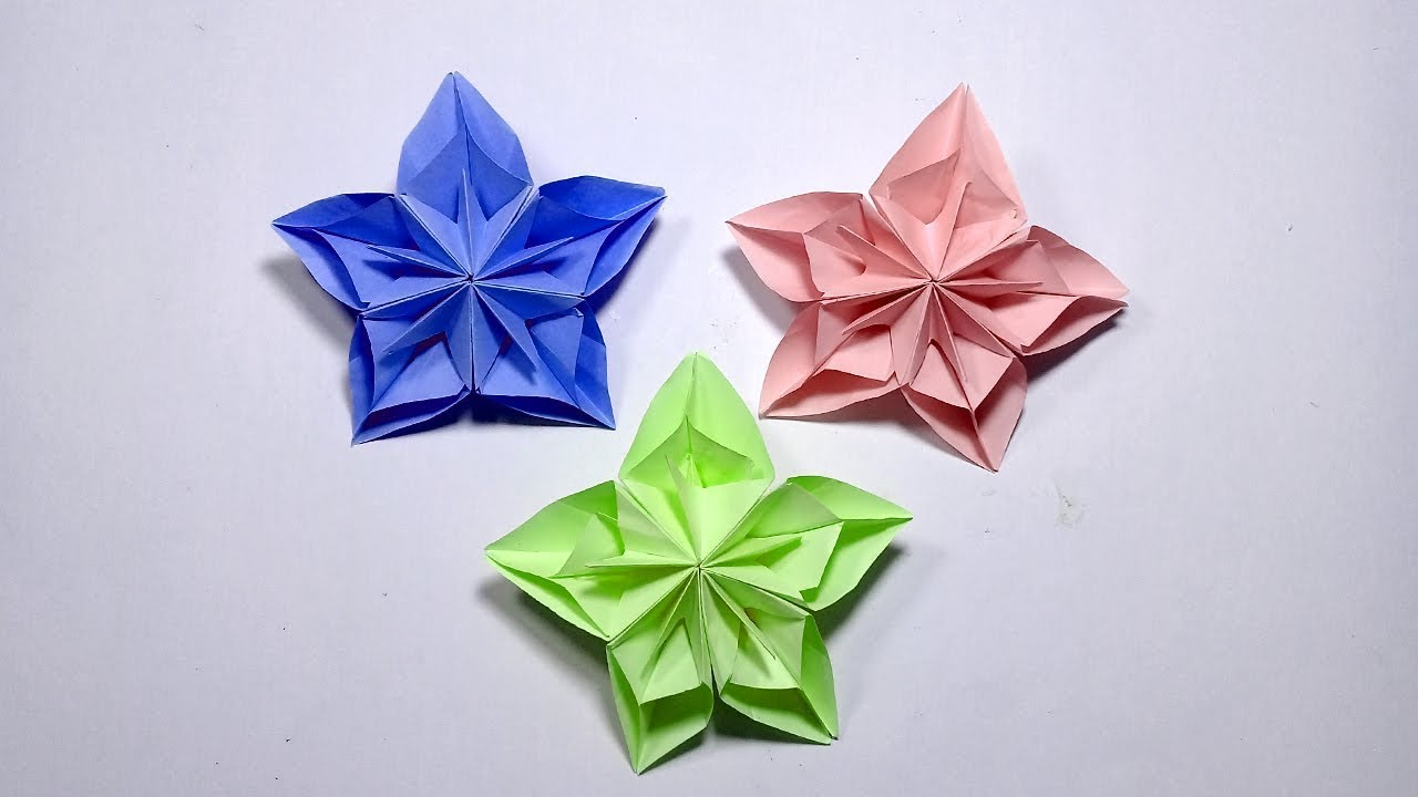 Diy Paper Flowers Very Easy To Make Paper Flowers L Paper Craft