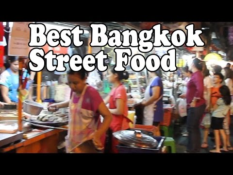The Best Street Food in Bangkok. Thai Food in Bangkok on Yaowarat Road Chinatown เยาวราช